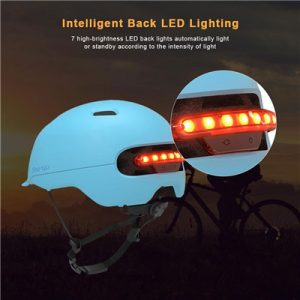 Safety helmet for scooter with lighting